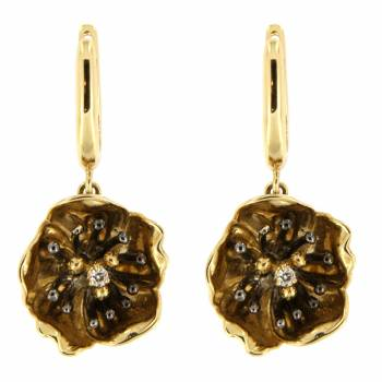Золотые серьги Roberto Bravo c бриллиантами