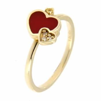 Золотое кольцо Roberto Bravo c бриллиантами,сапфирами и цветной эмалью