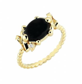 Золотое кольцо Roberto Bravo c  бриллиантом и ониксом