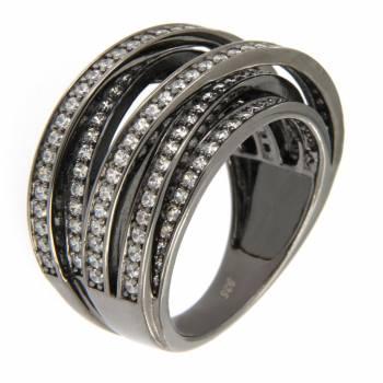 Серебряное кольцо Colour Me с фианитами