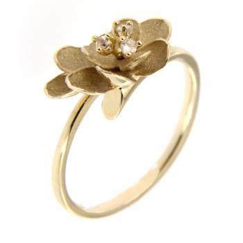 Золотое кольцо Roberto Bravo с лейкосапфирами