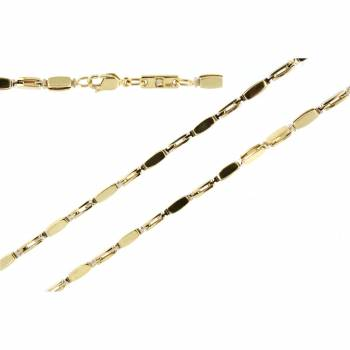 Золотая мужская цепь ручной работы