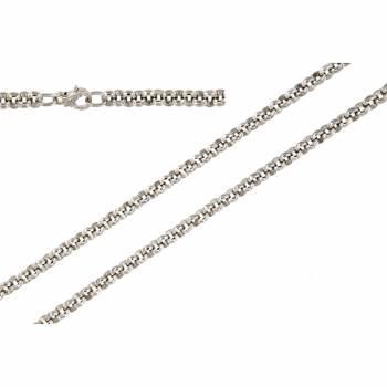 Серебряная мужская цепь ручной работы