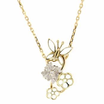 Золотое колье Roberto Bravo c бриллиантами и белой эмалью