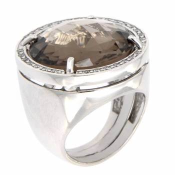 Серебряное кольцо Liberali с кварцем и фианитами