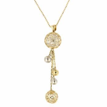 Золотое колье Roberto Bravo с камнями Swarovski