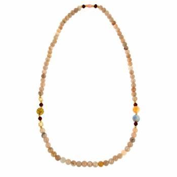 Колье с цветными кварцами и камнями сваровски