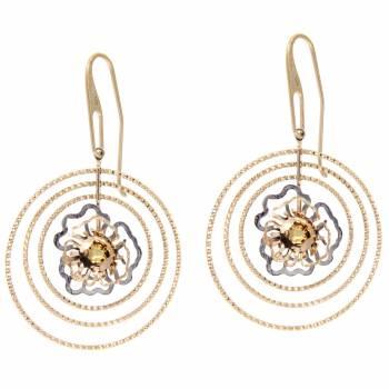 Серебряные серьги Cavaliere с цветной эмалью