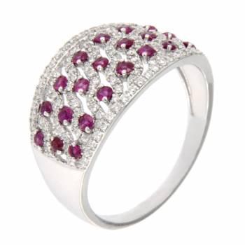 Золотое кольцо LUCI di GALA с бриллиантами и рубинами