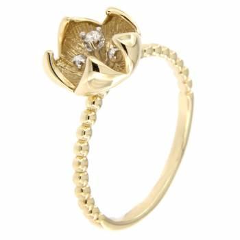 Золотое кольцо Roberto Bravo с бриллиантом