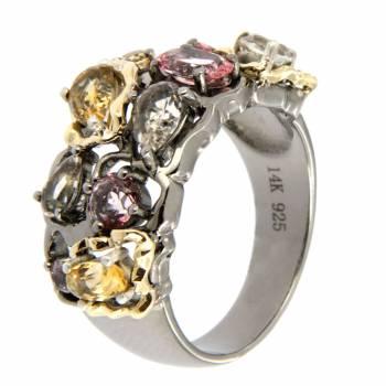 Серебряное кольцо c кварцем