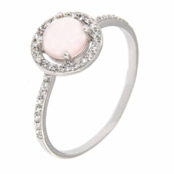 Золотое кольцо APM Monaco с розовым кварцем