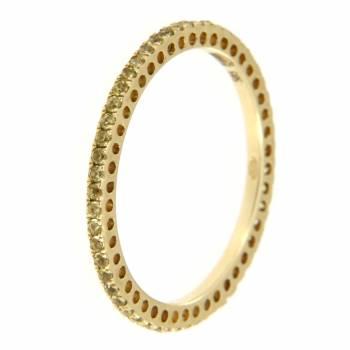 Золотое кольцо APM Monaco с сапфирами