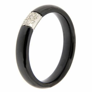 Золотое кольцо APM Monaco с бриллиантами и керамикой