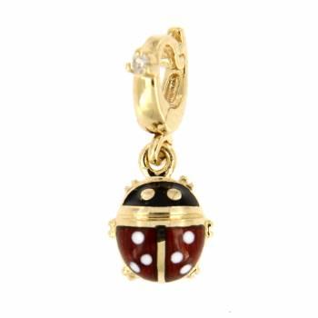 Золотой кулон Roberto Bravo с бриллиантом и цветной эмалью