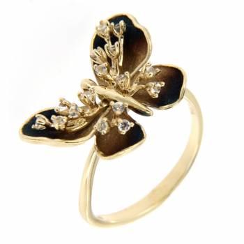 Золотое кольцо Roberto Bravo с сапфирами