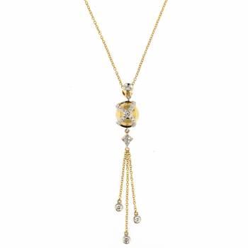 Золотое колье LUCI di GALA с бриллиантами