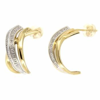 Золотые серьги APM Monaco с бриллиантами
