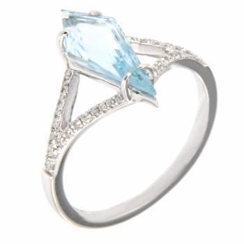 Золотое кольцо LUCI di GALA с бриллиантами и топазом