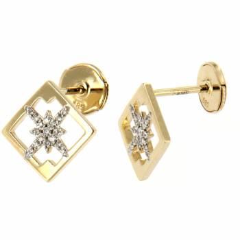 Золотые серьги LUCI di GALA с бриллиантами