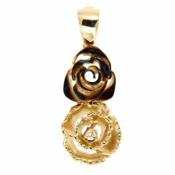 Золотой кулон Roberto Bravo с бриллиантом