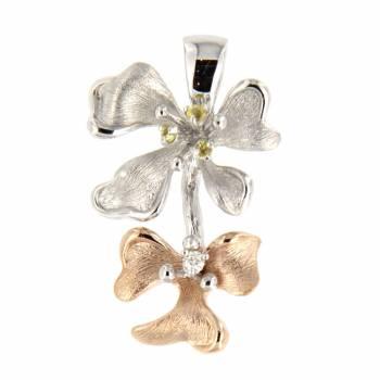 Золотой кулон Roberto Bravo с бриллиантом и сапфирами
