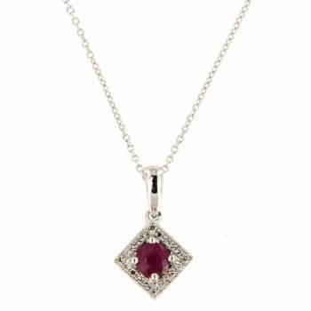 Золотое колье с бриллиантами и рубином