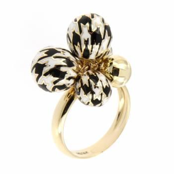 Золотое кольцо Roberto Bravo с цветной эмалью